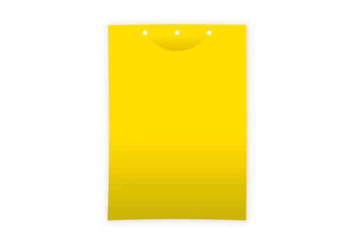 Клеевая цветоловушка для мониторинга лист пластик желтая 21х30 см