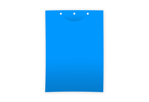Клеевая цветоловушка для мониторинга лист пластик синяя 21х30 см